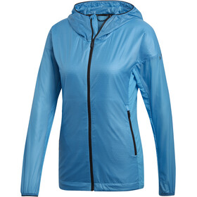 adidas TERREX Agravic Alpha Hooded Shield Jacket Damen shock cyan